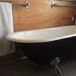 Cast Iron Bathtub & Gal Pipe Towel Rails