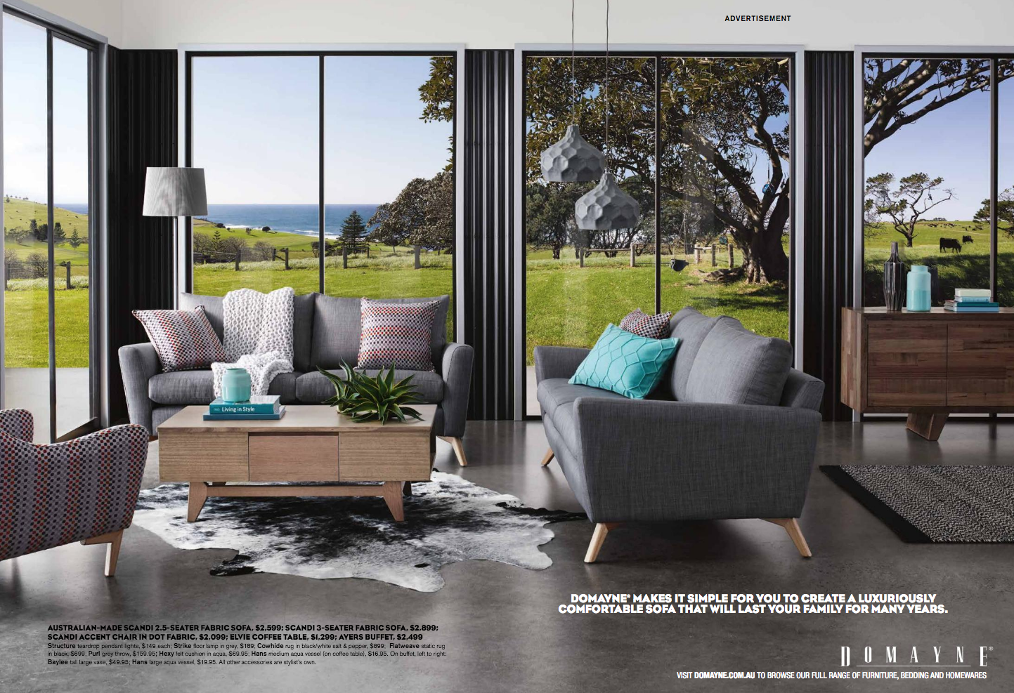Domayne Furniture Catalogue / photographed on location at The Shed. Gerroa.